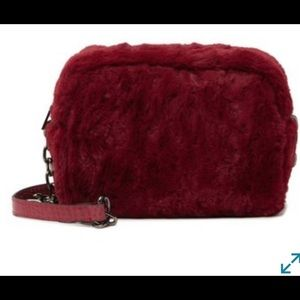 Pink Haley Amira Faux Fur Crossbody